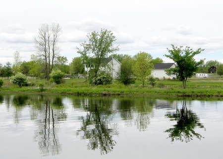 rideau canal: Landscape of the Rideau Canal near Nicolls Island in Ontario, Canada