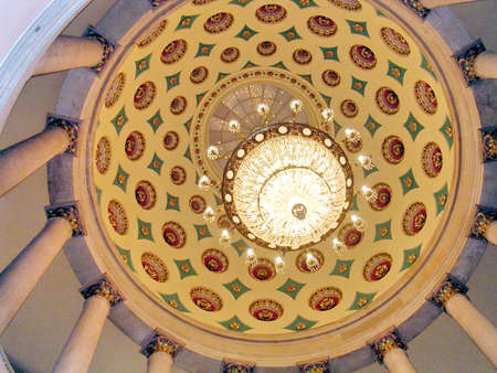 The dome inside of Small Senate Rotunda in US Capitol in Washington DC