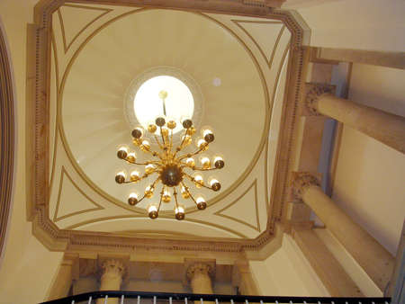 constantino: The chandelier of US Capitol in Washington DC Editorial