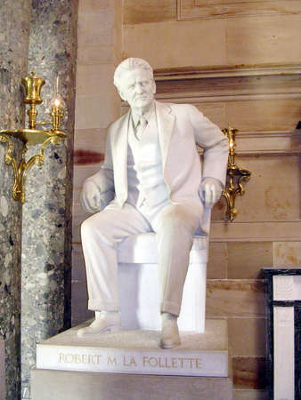 statuary: La Follette statue in Statuary Hall of the Capitol in Washington DC, USA