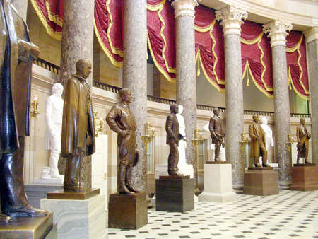 statuary: The Statuary Hall of the Capitol in Washington DC, USA