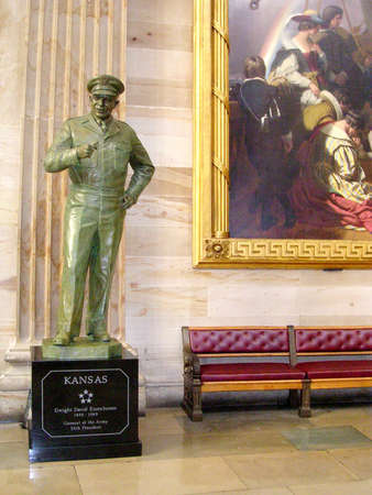 Eisenhower statue in Statuary Hall of the Capitol in Washington DC, USA