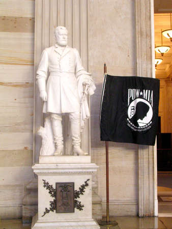 statuary: Grant statue in Statuary Hall of the Capitol in Washington DC, USA