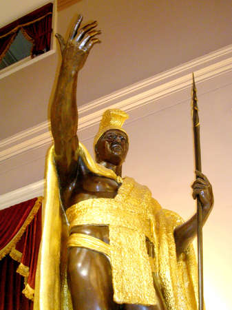 statuary: King Kamehameha statue in Statuary Hall of the Capitol in Washington DC, USA