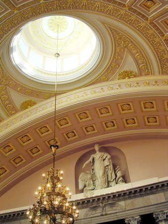 The interior of US Capitol in Washington DC Editorial