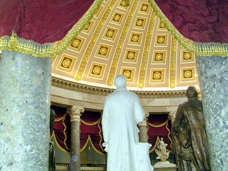The part of Statuary Hal of the Capitol in Washington DC, USA