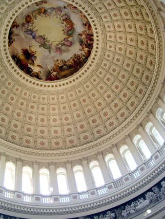 Part of rotunda of the US Capitol in Washington DC