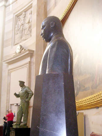 The Martin Luther King bust in Statuary Hall of the Capitol in Washington DC, USA Editorial
