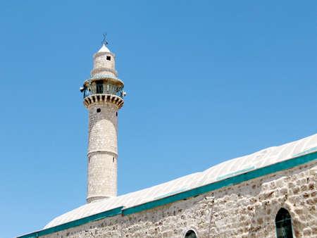 coran: The minaret of Great Mosque in Ramla, Israel