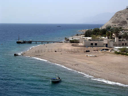holidaymaker: View of  Eilat Oceanarium on a coast of Red Sea, Israel