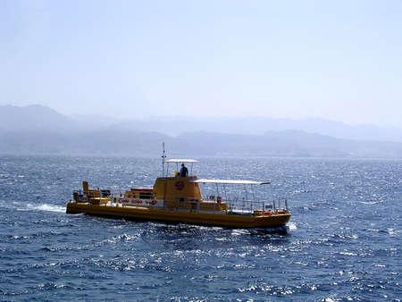 이스라엘의 홍해에 일라 트 해양 수족관의 정박