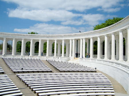 armed services: Memorial Amphitheater in Arlington National Cemetery. Used for memorial services to honor the fallen soldiers of the USA armed forces.