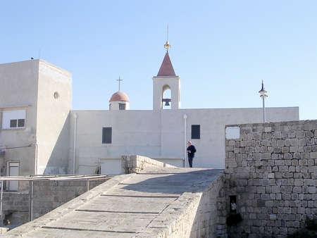 akko: Church St John on morning in Akko, Israel