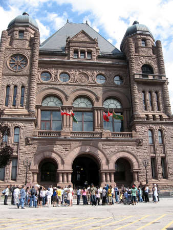 legislative: Legislative Building of Ontario Parliament in Toronto, Canada Editorial