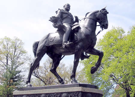 king edward: The  King Edward VII equestrian statue in Toronto, Canada