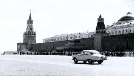 Old photo: The Red Square in Moscow, in 1962, Russia 新聞圖片