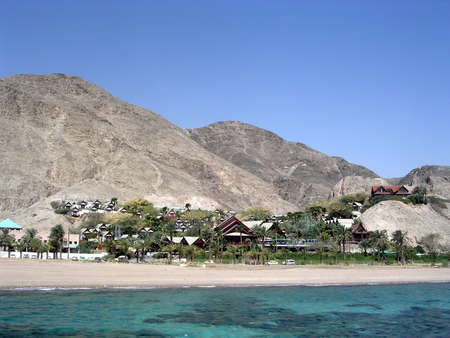 holidaymaker: The coast of Red Sea near Eilat in Israel