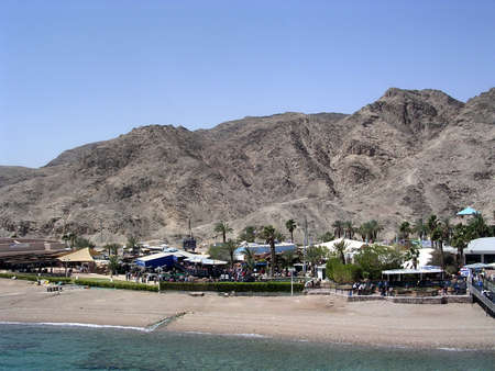 red sea: The coast of Red Sea near Eilat Oceanarium in Israel
