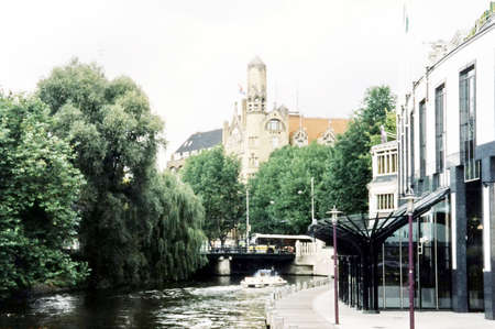 The canal in city center of Amsterdam, Netherlands Stock Photo