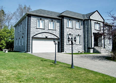 thornhill: Very nice grey house in Thornhill, Canada Editorial
