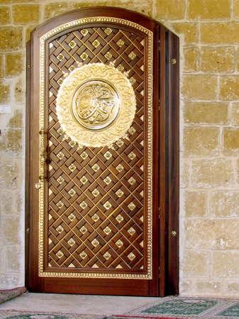 jaffa: Door of Mahmoudiya Mosque in old city Jaffa, Israel