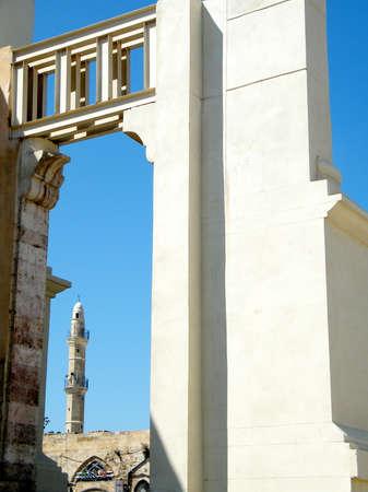 View near Saraya building in old city Jaffa, Israel Banco de Imagens