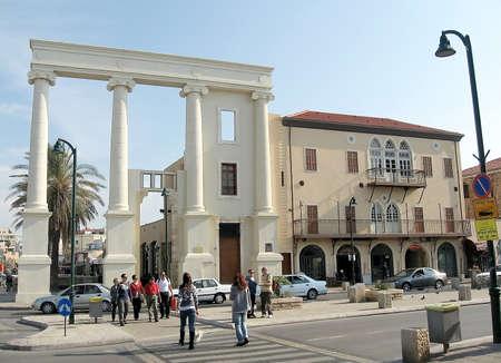 yaffo: Yefet street in old Jaffa,Israel Editorial