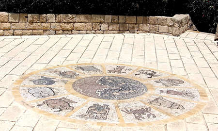 Zodiacal signs in old Jaffa, Israel