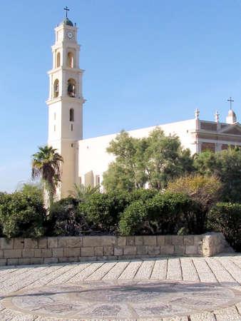 signes du zodiaque: Les signes du zodiaque et �glise St. Peters en vieille ville de Jaffa, Isra�l