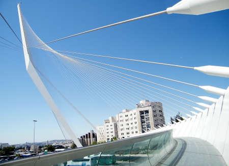 Calatrava-Brücke in Jerusalem, Israel