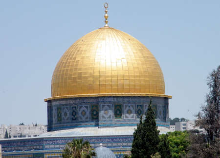 dome of the rock: Dome of Rock Mosque in Old Jerusalem,Israel