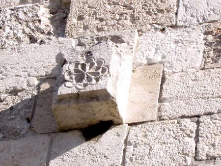 Detail of Jaffa Gate in Christian Quarter of old Jerusalem, Israel Banque d'images