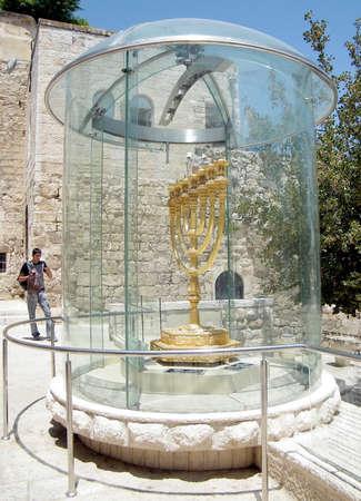 Menorah Mania in Jewish quarter of Old Jerusalem,Israel