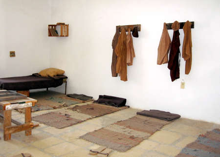 The camera in Prisoners Museum in Jerusalem, Israel Editorial