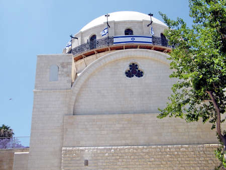 reconstructed: The reconstructed Hurva Synagogue in Jewish quarter of Old Jerusalem, Israel
