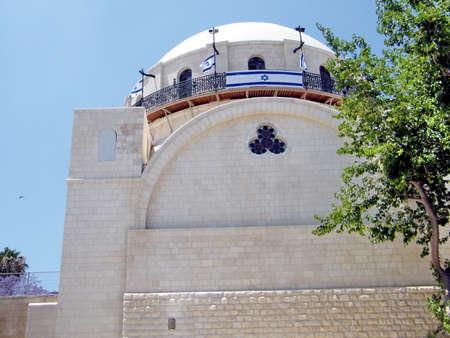hurva: The reconstructed Hurva Synagogue in Jewish quarter of Old Jerusalem, Israel