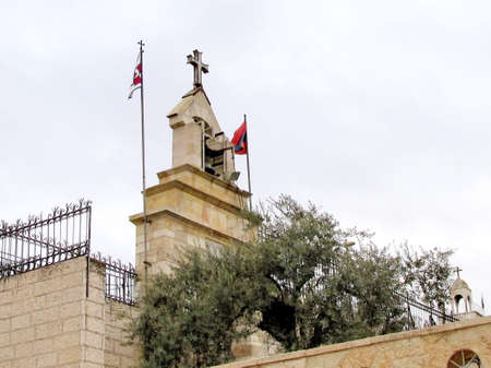 The belfry over the church of Virgin Marys tomb in Jerusalem, Israel