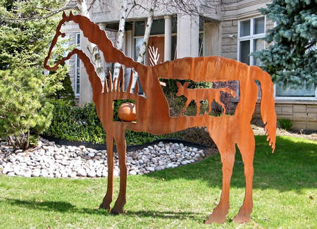 thornhill: Horse sculpture in Thornhill, Canada