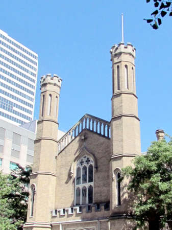 anglican: View of the Anglican Church of Holy Trinity at Trinity Square in Toronto, Canada