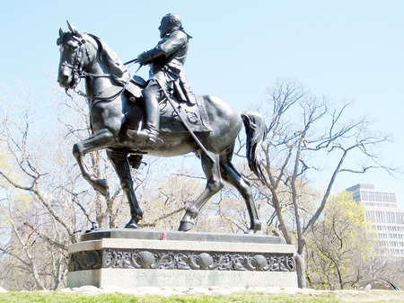 king edward: King Edward VII equestrian statue in Queens Park of Toronto, Canada Stock Photo