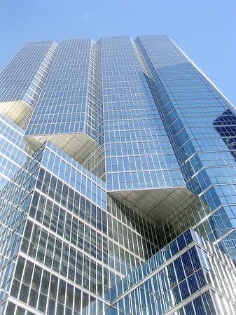 king street: Blue skyscraper in King Street of Toronto Ontario, Canada