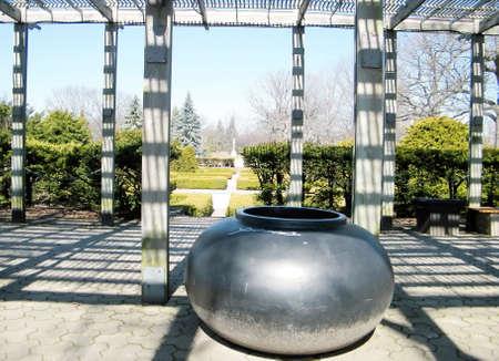 high park: Big black cauldron in High Park,Toronto