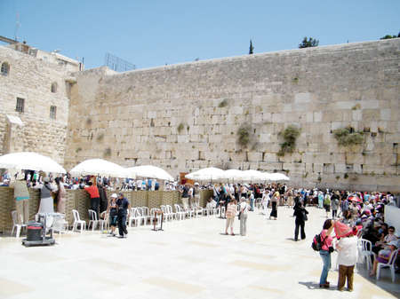 Place for women near Western Wall in the old city of Jerusalem, Israel