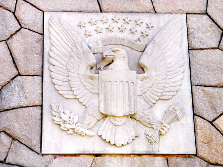 unum: United States Seal carved into stone in Washington DC