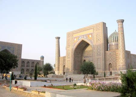 registan: Sher-Dor Madrasah of Registan in Samarkand, Uzbekistan