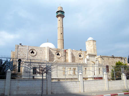 View of Hasan-bey Mosque in Tel Aviv, February 2011 Israel Stock Photo