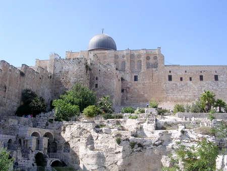 Dome of Al-Aqsa Mosque in Jerusalem in Israel Banco de Imagens