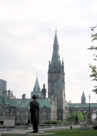 オタワ、カナダのカナダ議会夕方のビュー