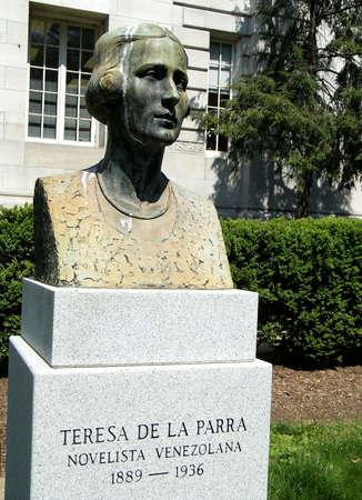 Teresa de la Parra의 흉상은 워싱턴 DC에있는 미국 미국기구에서
