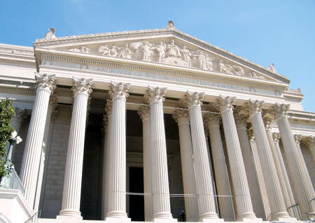 National Archives facade in Washington DC, USA Zdjęcie Seryjne